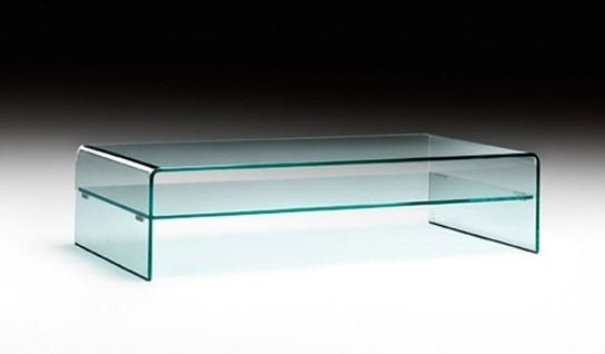 Remarkable Series Of Curved Glass Coffee Tables Throughout Contemporary Coffee Table Glass Curved Glass Rectangular (Image 39 of 50)