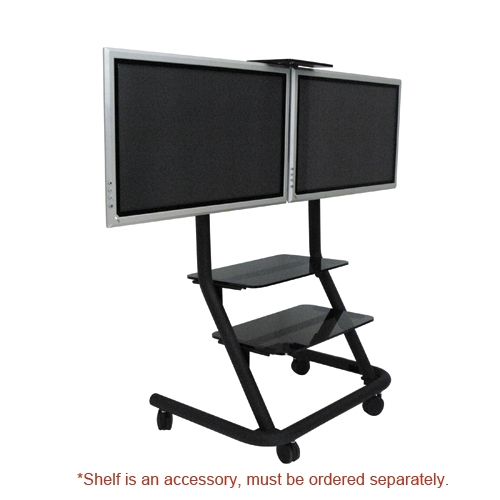 Remarkable Series Of Dual TV Stands With Regard To Ppd2000 Dual Display Video Conferencing Cart (Image 40 of 50)
