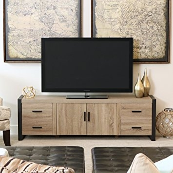 Remarkable Series Of Industrial TV Stands Regarding Amazon New 70 Inch Modern Industrial Tv Stand Ash Grey (Image 40 of 50)