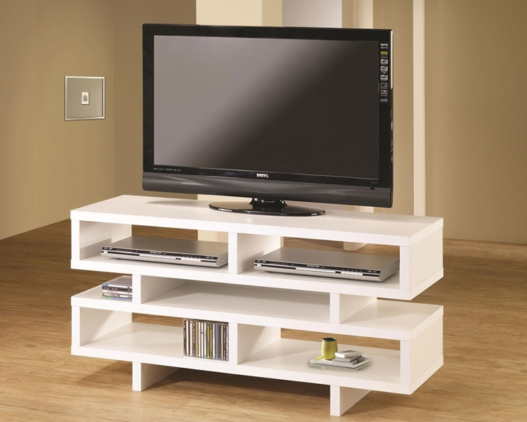 Remarkable Series Of Large White TV Stands Throughout Furniture Modern Tv Component Stand Modern Tv Stands As (View 44 of 50)