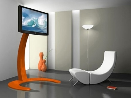 Remarkable Series Of Orange TV Stands In 10 Simple And Elegant Tv Stands Ideas Attractive Everyone In Your (Image 44 of 50)