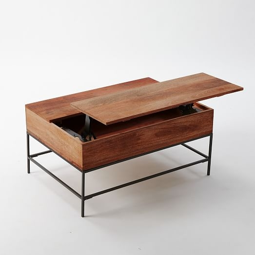 Remarkable Series Of Small Coffee Tables With Storage Pertaining To Industrial Storage Coffee Table West Elm (Image 35 of 50)