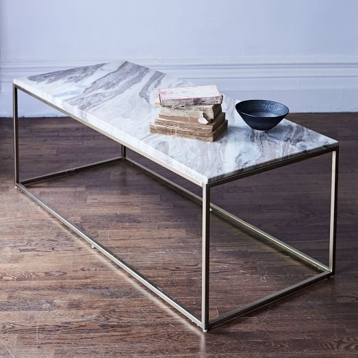Remarkable Series Of Swirl Glass Coffee Tables For Mira Coffee Table Swirled Sorbet West Elm (Image 39 of 50)