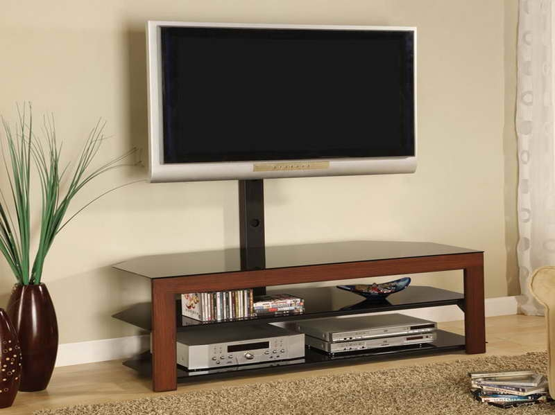 Remarkable Series Of Wood TV Stands With Glass Top Pertaining To Tv Stands New Released Flatscreen Tv Stand On Wheels Ideas Tv (Image 37 of 50)