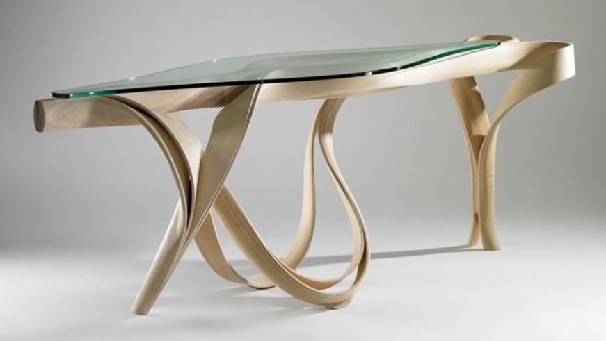 Remarkable Stylish Unique Dining Tables Bring More Benefits With Round Glass Dining Tables With Oak Legs (Image 13 of 20)