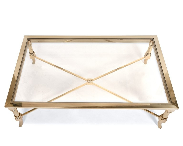 Remarkable Top Antique Glass Coffee Tables Regarding Antique Brass Coffee Table Idi Design (Image 32 of 40)