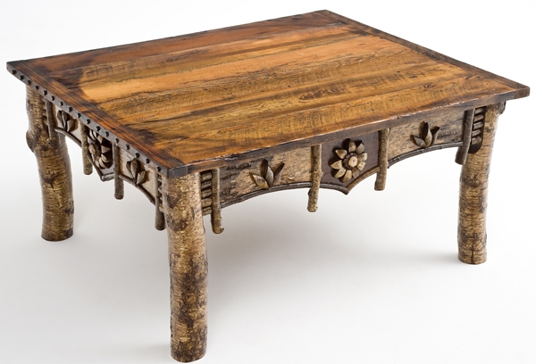 Remarkable Top Birch Coffee Tables Intended For Birch Bark Artistic Coffee Table Design 2 Woodland Creek Furniture (Image 41 of 50)