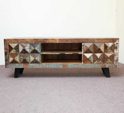 Remarkable Top Chunky TV Cabinets For K59 842 Indian Furniture Tv Cabinet Chunky Reclaimed 2 Jugs (Image 34 of 50)