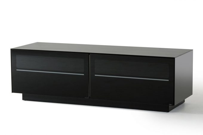 Remarkable Top Contemporary Black TV Stands Pertaining To Furniture Appealing Black Tv Stand For Home Interior Decorating (View 18 of 50)