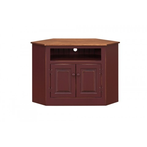 Remarkable Top Cornet TV Stands For Corner Tv Stand Peaceful Valley Amish Furniture (Image 40 of 50)