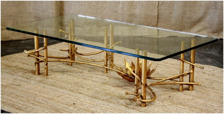 Remarkable Top Gold Bamboo Coffee Tables Regarding Antique Gold Bamboo Coffee Table Cocinacentralco (View 36 of 50)