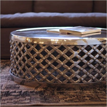 Remarkable Top Hammered Silver Coffee Tables For Dining Room Best Hammered Metal Accordion Coffee Table West Elm (Image 40 of 50)
