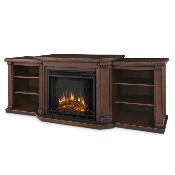 Remarkable Top Mahogany TV Stands Inside Real Flame Valmont 755 Tv Stand With Optional Fireplace (Image 43 of 50)