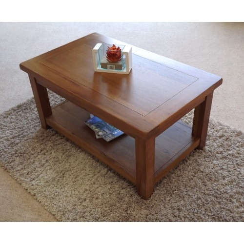 Remarkable Top Oak Coffee Table With Shelf Inside Oak Medium Coffee Table With Shelf (View 46 of 50)