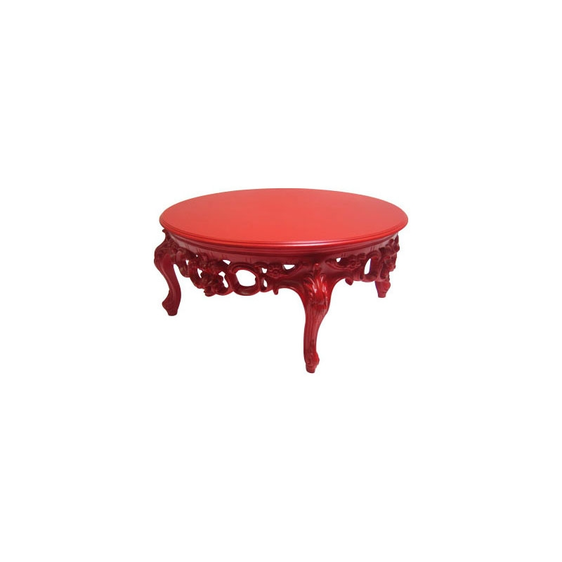 Remarkable Top Red Round Coffee Tables Pertaining To Round Red Coffee Table (View 13 of 50)