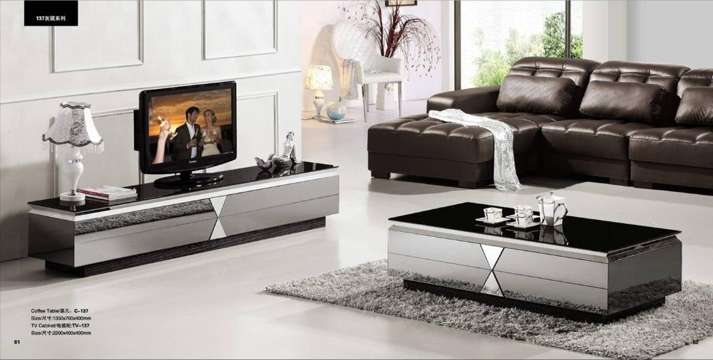 Remarkable Top Tv Unit And Coffee Table Sets For Aliexpress Buy Gray Mirror Modern Furniture Coffee Table (Image 40 of 50)