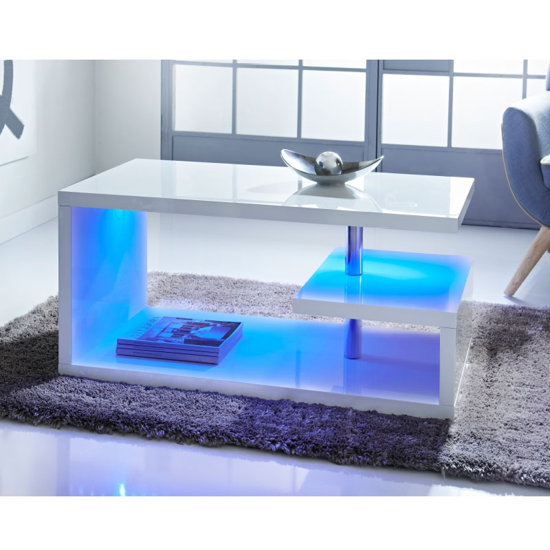 Verona Extendable High Gloss Coffee Table In White: 50 Best Collection Of White Gloss Coffee Tables
