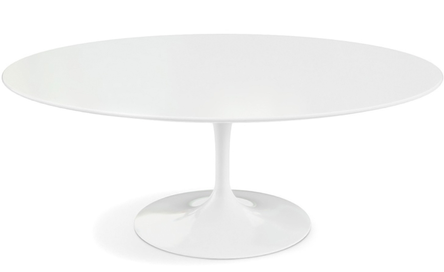 Remarkable Top White Oval Coffee Tables Within Saarinen Coffee Table White Laminate Hivemodern (View 15 of 50)