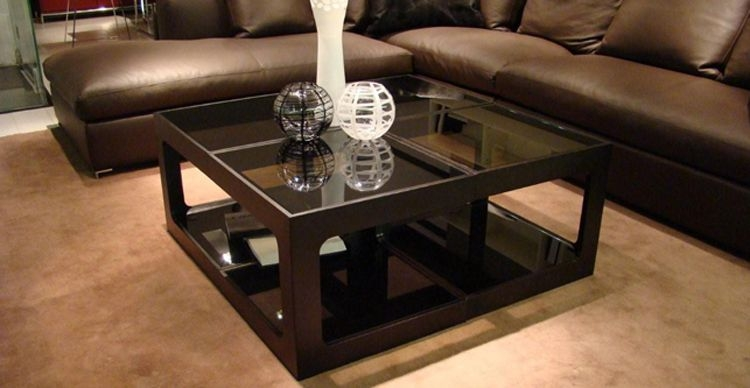 Remarkable Trendy Black Wood And Glass Coffee Tables Within Wood Glass Coffee Table (Photo 35 of 49)