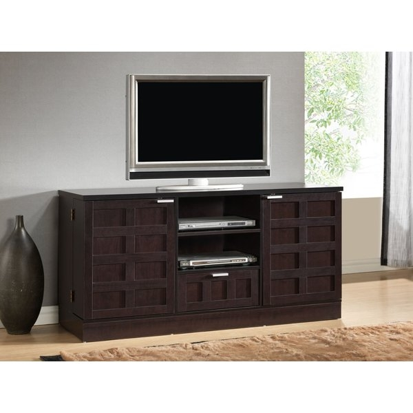 Remarkable Trendy Brown TV Stands Regarding Wholesale Interiors Baxton Studio Tosato 565 Tv Stand Reviews (View 26 of 45)