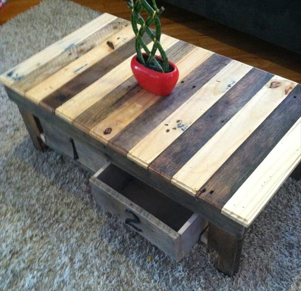 Remarkable Trendy Coffee Tables With Box Storage For Pallet Coffee Table With Storage Boxes 101 Pallets (Image 46 of 50)