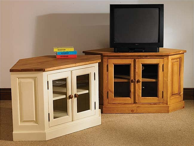 Remarkable Trendy Dark Oak Corner TV Cabinets Intended For Corner Tv Table All Kind Of Imported And Indian Household And (Image 40 of 50)