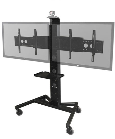 Remarkable Trendy Dual TV Stands Within Avfi Stands Fixed Mobile Wall Mounted Height Adjustable (Image 41 of 50)
