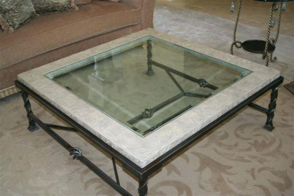 Remarkable Trendy Glass And Stone Coffee Table Pertaining To Coffee Table Round Table Top Stone Coffee Tables Produced In (Image 37 of 50)