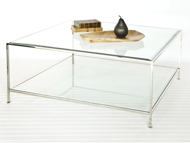 Remarkable Trendy Glass Coffee Tables With Shelf Throughout Living Room Top Square Glass Coffee Table Simple Pertaining To (View 18 of 50)