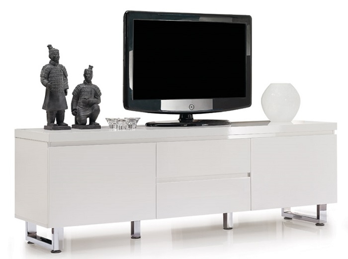 Remarkable Trendy High Gloss White TV Cabinets Pertaining To Sydney Iii High Gloss Tv Unit Tv Stands Sena Home Furniture (View 13 of 50)