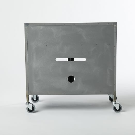 Remarkable Trendy Industrial Metal TV Cabinets Pertaining To Metal Industrial Tv Cart West Elm (Image 44 of 50)