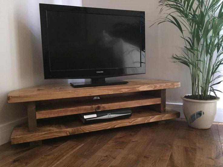 Remarkable Trendy Low Corner TV Stands Throughout Tv Stands Most Elegant Dark Distressed Corner Tv Stand Design (Image 42 of 50)