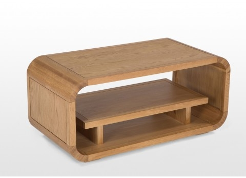 Remarkable Trendy Oak Coffee Table With Shelf Within Oak Coffee Table Curved (Image 40 of 50)