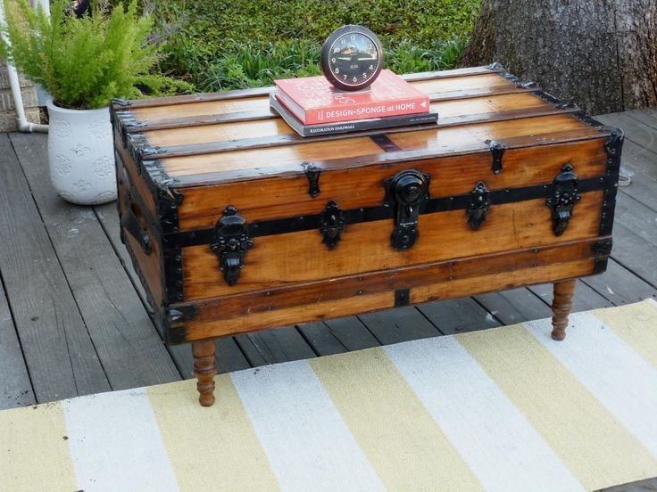 Remarkable Trendy Old Trunks As Coffee Tables Regarding Best 48 Trunk Show Images On Pinterest Diy And Crafts (Image 43 of 50)