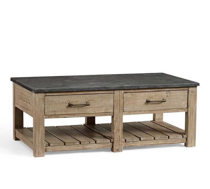Remarkable Trendy Reclaimed Wood Coffee Tables Inside Parker Reclaimed Wood Coffee Table Pottery Barn (View 20 of 50)