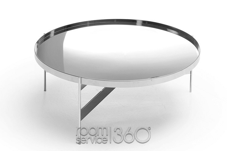 Remarkable Trendy Round Chrome Coffee Tables With Regard To Abaco Round Modern Coffee Table Pianca Made In Italy (Image 42 of 50)