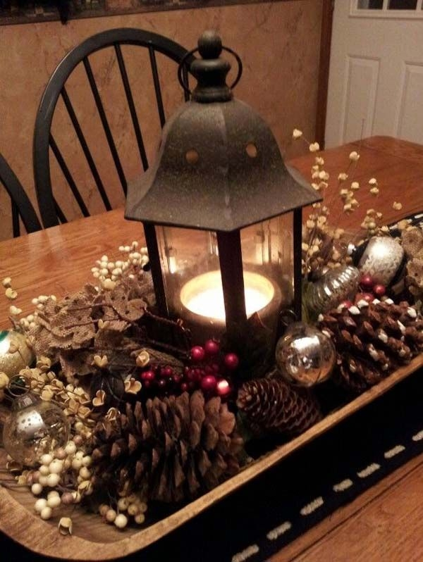 Remarkable Trendy Rustic Christmas Coffee Table Decors Intended For Best 20 Christmas Table Centerpieces Ideas On Pinterest (Image 43 of 50)