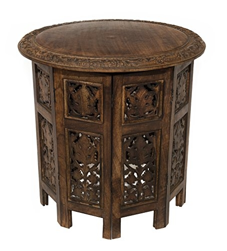 Remarkable Trendy Solid Round Coffee Tables Throughout Amazon Cotton Craft Jaipur Solid Wood Hand Carved Accent (Image 29 of 40)