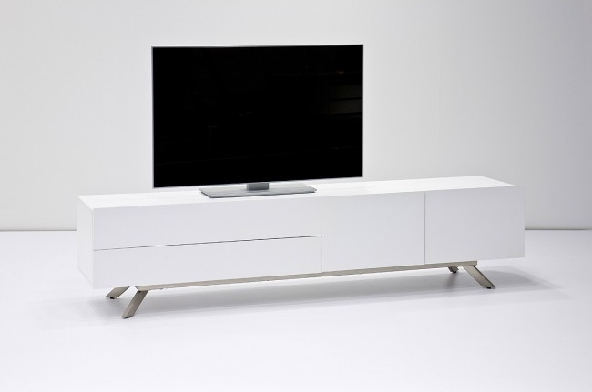 Remarkable Trendy Stylish TV Stands With Rife Stylish Tv Stand In White With Metal Legs Funiquecouk (View 36 of 50)