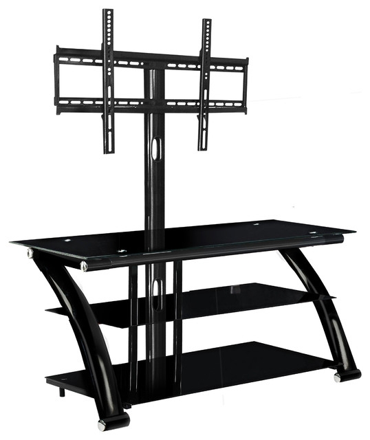 Remarkable Trendy TV Stands With Mount With Innovex Nexus Ez 52 Tv Stand With Mount Black Contemporary (Image 41 of 50)