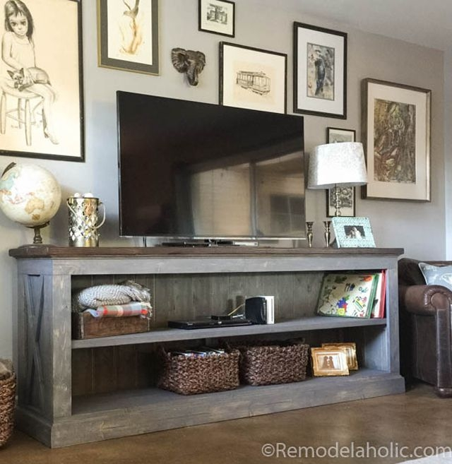 Remarkable Trendy Very Tall TV Stands Intended For 9 Free Tv Stand Plans You Can Diy Right Now (Image 37 of 50)