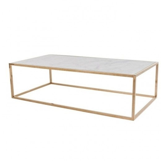 Remarkable Trendy White Cube Coffee Tables Inside Elle Cube Coffee Table White Marble Brass Coffee Tables (View 35 of 40)
