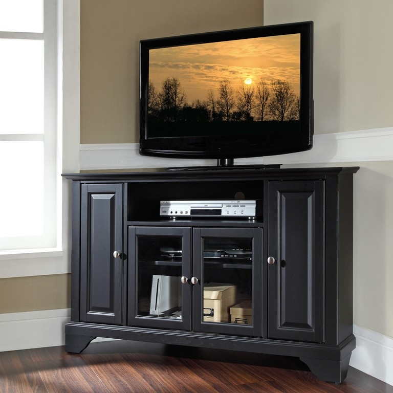 50 inspirations 55 inch corner tv stands tv stand ideas. Black Bedroom Furniture Sets. Home Design Ideas