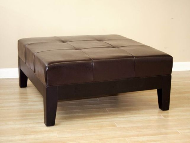 Remarkable Unique Brown Leather Ottoman Coffee Tables With Marvelous Square Ottoman Coffee Table Abson Manchester Dark Brown (Image 38 of 50)