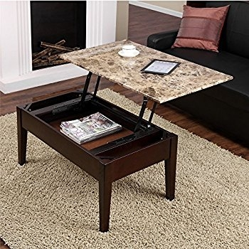 Remarkable Unique Coffee Table With Raised Top Within Amazon Dorel Living Faux Marble Lift Top Coffee Table (Image 42 of 50)