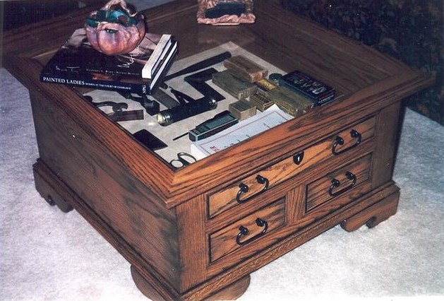 Remarkable Unique Coffee Tables With Glass Top Display Drawer Pertaining To Coffee Table Glass Top Display Drawer Great Rectangle Dark Brown (Image 30 of 40)