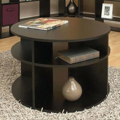 Remarkable Unique Cosmo Coffee Tables For Coffee Table Accent Table Round Traditional Espresso Wood Side (View 36 of 50)