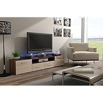 Remarkable Unique Cream Gloss TV Stands With Regard To Puro Tv Media Stand Cream Amazoncouk Kitchen Home (Image 41 of 50)