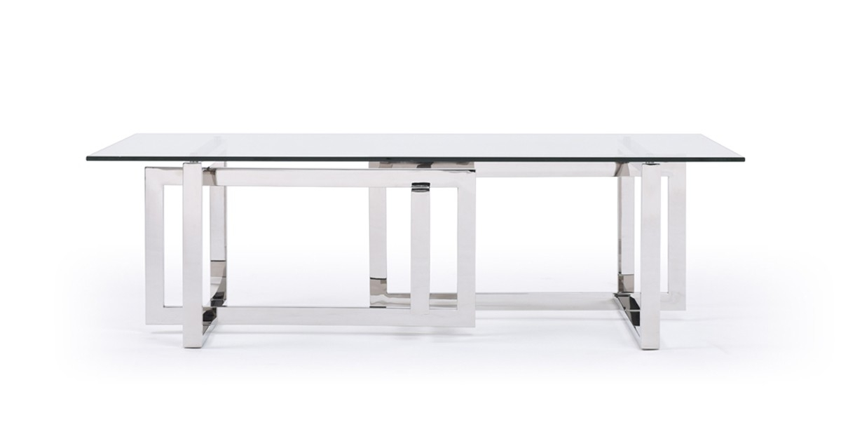 Remarkable Unique Glass Steel Coffee Tables For Modrest Valiant Modern Glass Stainless Steel Coffee Table (Image 45 of 50)