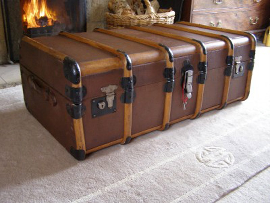 Remarkable Unique Large Trunk Coffee Tables Within Large Steamer Trunk Coffee Table (Image 42 of 50)